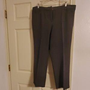 Avenue Gray Plaid Trouser